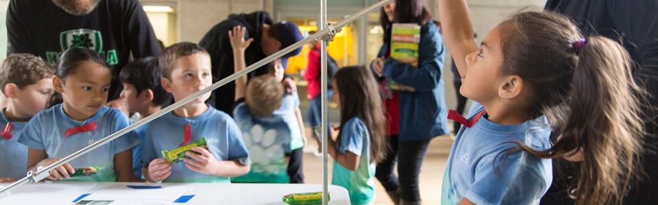 Teacher Preparation Program - Grade school students visiting UC Merced science labs